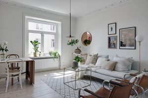 Woonkamer wit appartement