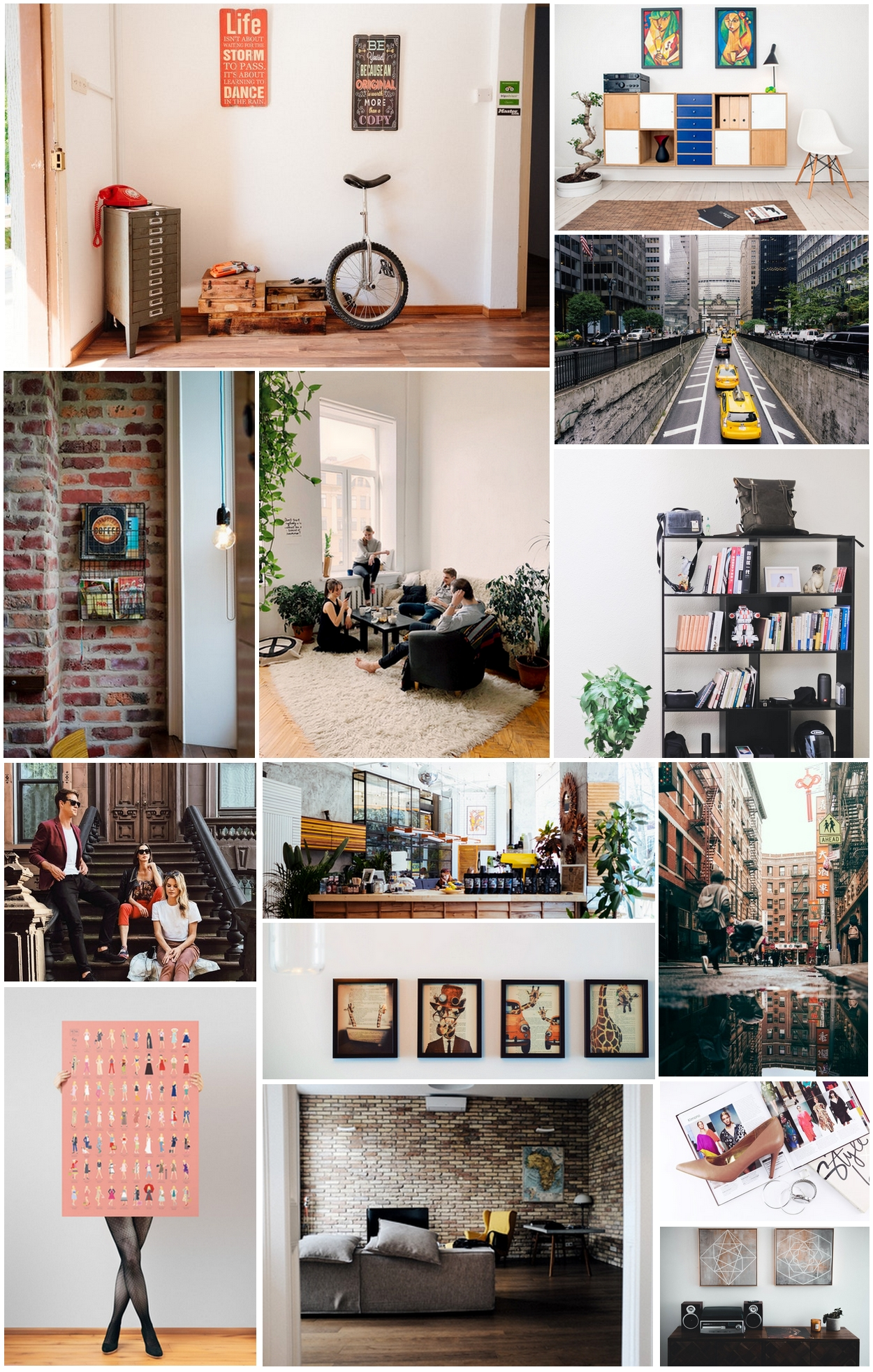 moodboard New York interieur