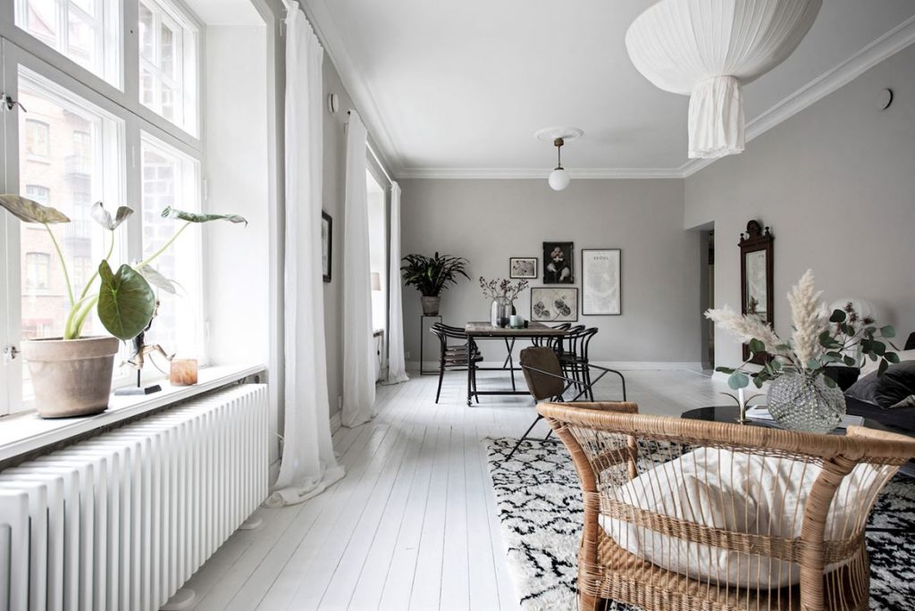 Klassiek en scandinavisch interieur