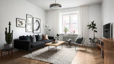 Dit scandinavische interieur heeft een jaren touch and we like it