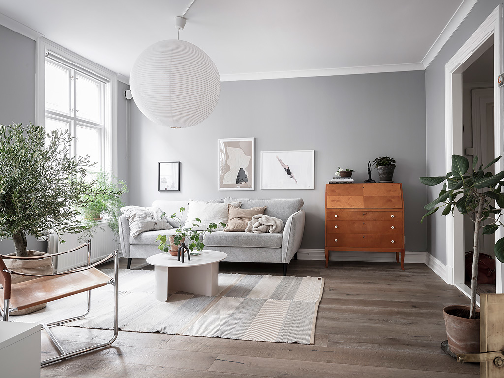 Scandinavisch en retro interieur