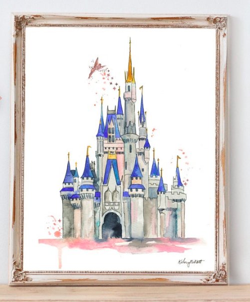 kinderkamer decoratie disney kasteel print